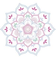 floral mandala in soft pastel colors vector image