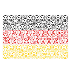 German flag collage of glad smiley icons vector
