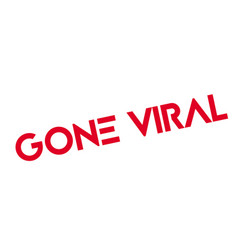 Gone viral rubber stamp vector