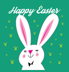 greeting card with easter and bunny vector image