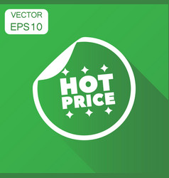 Hot price shopping icon business concept sale vector