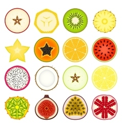 Icon Set Fruits vector