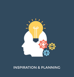 Inspiration and planning vector
