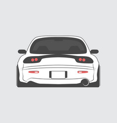 Japan tuned car isolated vector