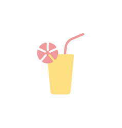 Juice drink icon or sign design vector