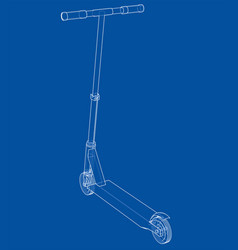 Kick scooter outline vector