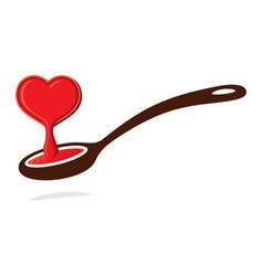 Love spoon vector