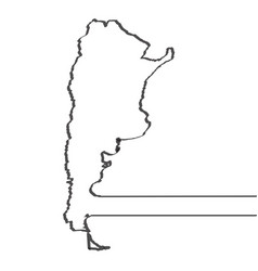 map of argentina continous line vector image
