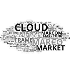 Marcom word cloud concept vector