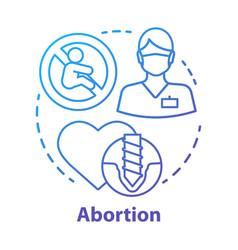 Medical abortion concept icon miscarriage idea vector