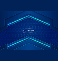modern futuristic light blue background with glow vector image