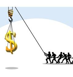 money teamwork vector image