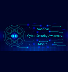National cyber security awareness month is vector