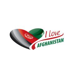 National flag afghanistan in shape vector