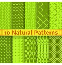 Natural seamless patterns tiling vector