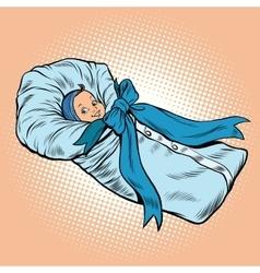 Pop art retro newborn infant medical health and vector