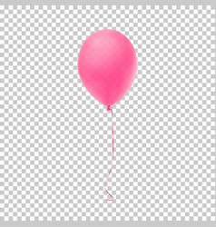 Realistic pink balloon vector