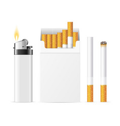 realistic template blank white cigarette pack vector image