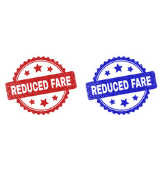 Reduced fare rosette stamps using grunge style vector