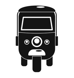 Rickshaw icon simple style vector