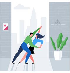 romantic couple concept 03 vector image