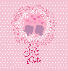 Save the date postcard vector