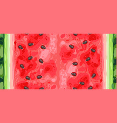 seamless pattern slice ripe watermelon vector image