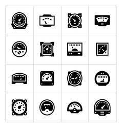 Set icons of meter vector image