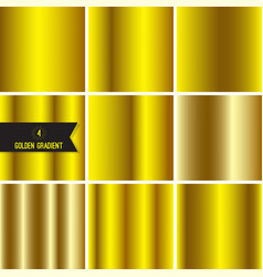 Set of gold foil texture vector