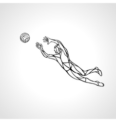 Soccer or football player goalkeeper sportsman vector