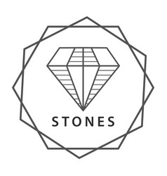 stone jewel logo vector image