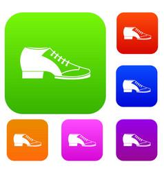 tango shoe set color collection vector image
