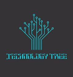 technology tree microcircuit engineering vector image