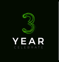 three years celebrate poster for party 3 years vector image