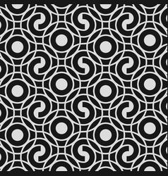 tiny round art decoration seamless patterns vector image