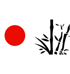 Traditional japanese painting vector