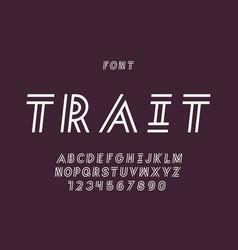 Trait cursive font alphabet vector