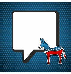 USA Democratic politic message vector image