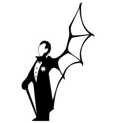 Vampire gentleman symbol vector