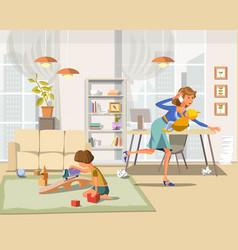 working mother vector image