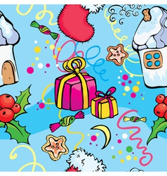 X mass seamless pattern vector image vector image