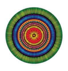 Adult coloring book page circular pattern mandala vector