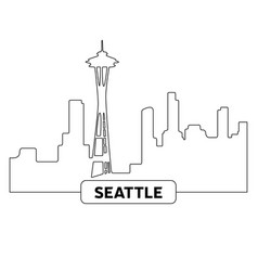 cityscape of seattle vector image vector image