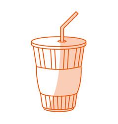 Monocromatic soda cup design vector