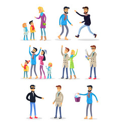 people spending holidays and celebrating new year vector image vector image