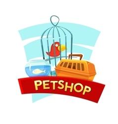 Petshop concept design vector image vector image