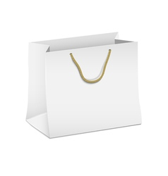 white shopping paper bag vector image