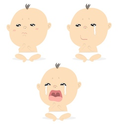 baby crying vector image