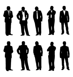 Business man figure vector image vector image