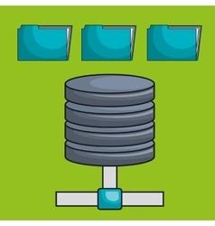 data base file folder vector image